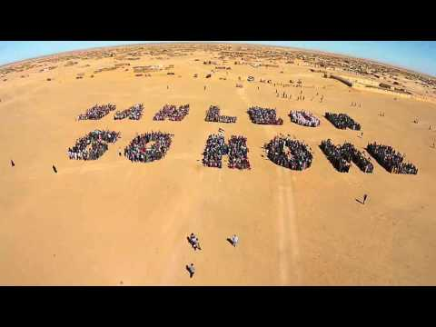 Protest against San Leon Energy drilling in occupied Western Sahara (flyover)