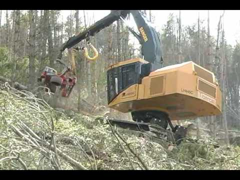 LH845C steep slope harvesting