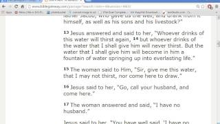 NEW Interpretation of Jesus & The WOMAN AT THE WELL - 5 Husbands=Man, 6th Man=NEPHILIM!
