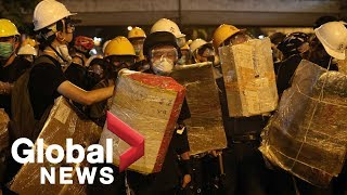 Hong Kong protests clash with police as calls continue for Carrie Lam's resignation