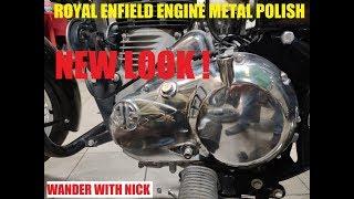 ROYAL ENFIELD ENGINE METAL POLISH (Video made on One plus 7)