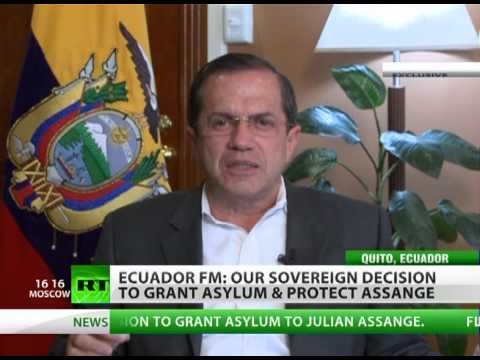 'Ecuador ready to go to Hague over Assange asylum' - FM Patino