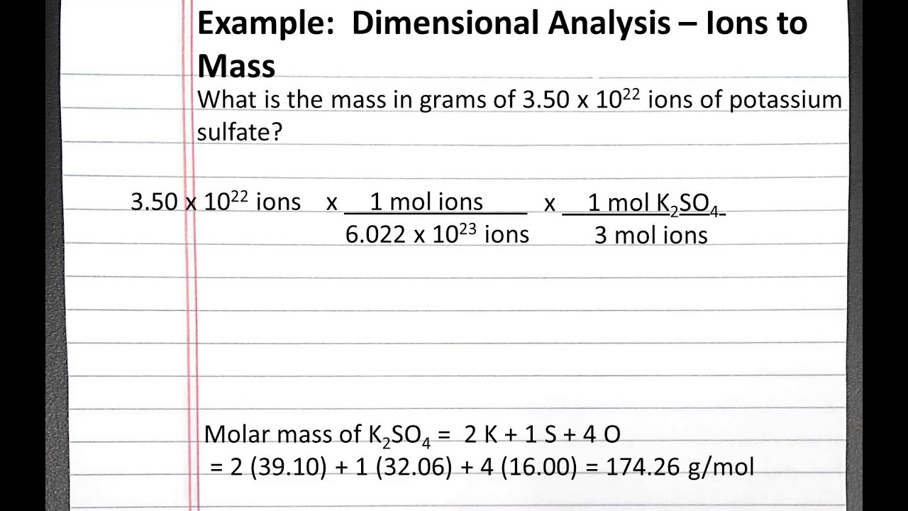 Dimensional analysis worksheet 2