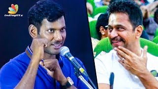 Arjun Paid Rs.100 as my First Salary : Vishal Speech | Irumbu Thirai Success Meet