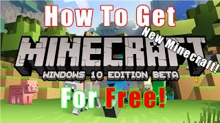 *NEW* How To Get Minecraft: Windows 10 Edition For Free!