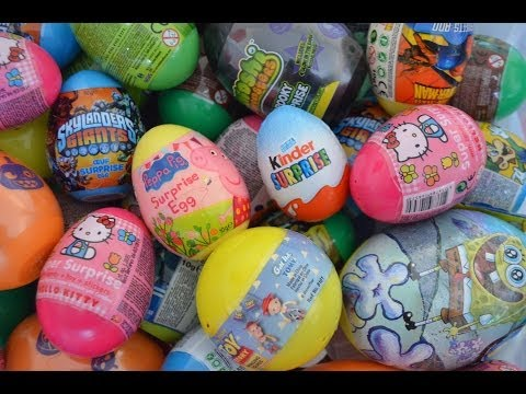 Kinder Surprise Peppa Pig Disney Pixar Toy Story Skylanders Giants Hello Kitty Surprise Eggs