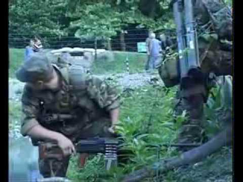 Российские миротворцы в Мингрелии, разговор грузинского полицейского с российским офицером.