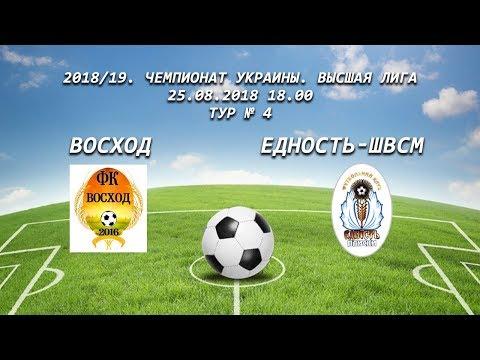 Чемпионат Украины. Высшая Лига Восход-Едность-ШВСМ