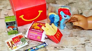 McDonalds Happy Meal | DIY American Girl Doll Food Crafts