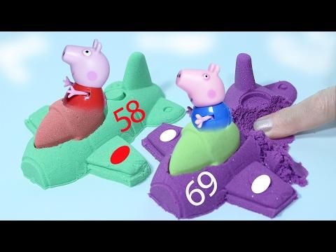 Свинка Пеппа и Джордж стали авиаконструкторами. Игрушки для детей. Играем  вместе