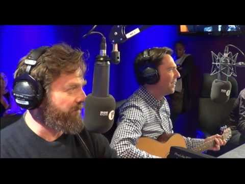 The Hangover III cast sing to Greg James
