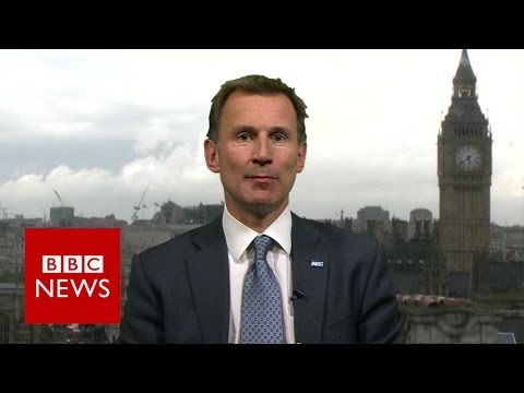 """We've got everything we needed for a seven day NHS"" Jeremy Hunt - BBC News"