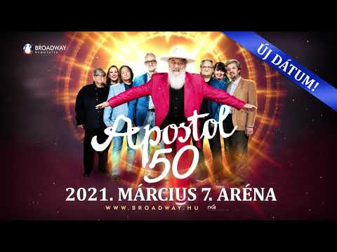APOSTOL 50 JUBILEUMI KONCERT - 2021. március 07. | Papp László Budapest Sportaréna