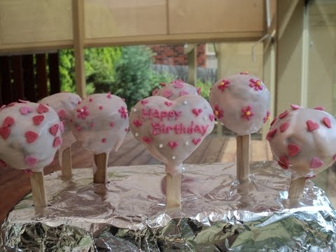 Pink Birthday Cake Pops