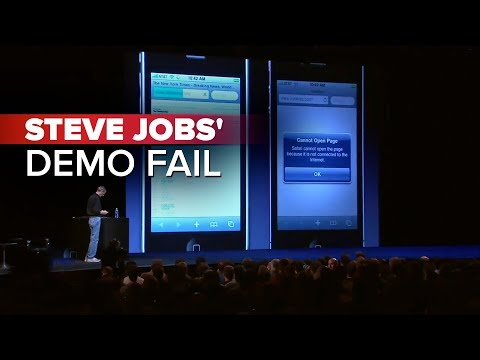 CNET News: Steve Jobs' demo fail Music Videos