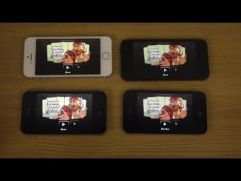 GTA San Andreas iPhone 5S vs. 5 vs. 4S vs. 4 Gameplay Comparison Review