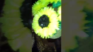 Kerajinan Bunga Matahari Dari Kantong Plastik