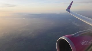 (4K) Wizzair Airbus A320 Sharklets flight video, London Luton to Szczecin - W62164
