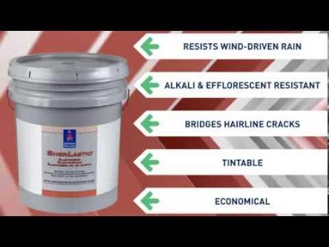 Sherlastic elastomeric coating sherwin williams youtube for One coat exterior paint reviews