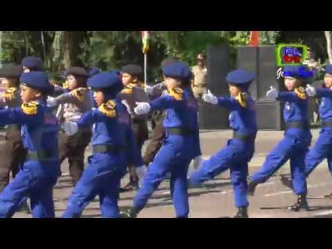 AKSI POLISI CILIK TAMPIL MEMUKAU HUT BHAYANGKARA KE -71