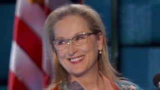 Actress Meryl Streep addresses the DNC