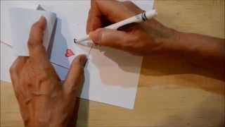 How To Draw A Quick And Easy Flip Book - Arrow Through A Heart