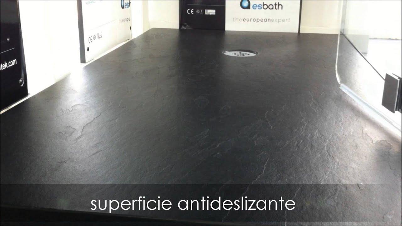 Tv200 plato de ducha antideslizante carga mineral pizarra - Suelo antideslizante ducha ...