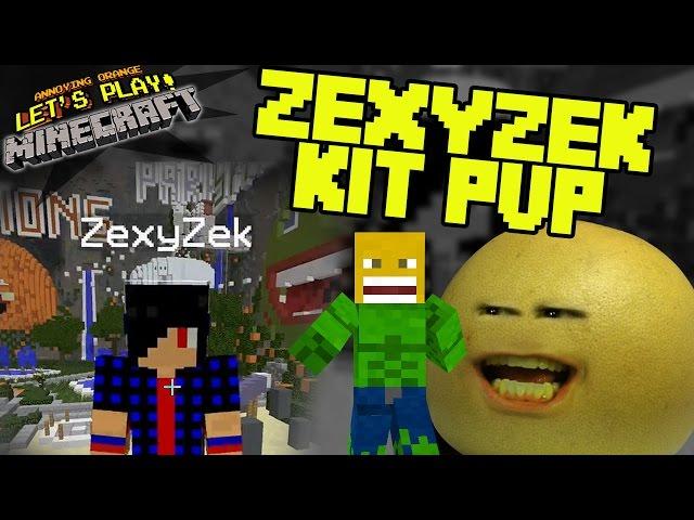 Annoying Orange Let's Play Minecraft - ZexyZek Vs. Grapefruit KitPVP