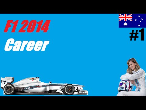 F1 2014 Career Mode Part 1: Australia - Practice & Qualifying