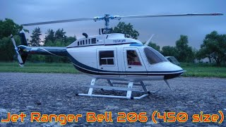 Scale RC Helicopter  Jet Ranger Bell 206, (450 size) #7