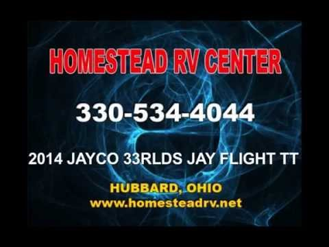 2014 JAYCO 33 RLDS JAY FLIGHT TRAVEL TRAILER OHIO DEALER CAMPER RV www.homesteadrv.net