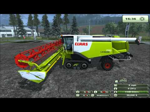 Mod for Farming Simulator 2013 Claas Lexion 770 TerraTrac Package REVIEW