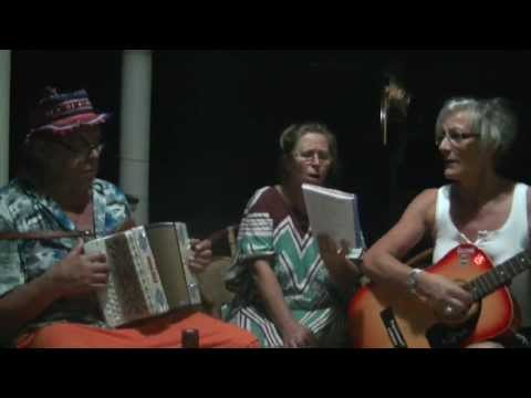 Swiss Charly & Friends singing in Marilyn's garden in Sri Lanka