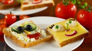 «Веселые бутерброды» для деток: готовим быстро, красиво и легко!