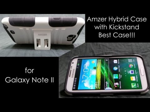 Galaxy Note 2 Best Case: Amzer Hybrid with Kickstand Review and Unboxing - Cursed4Eva