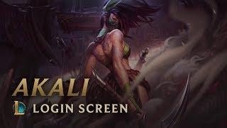 Akali, the Rogue Assassin | Login Screen - League of Legends