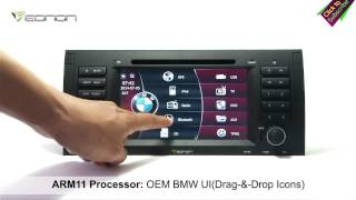 Eonon D5166 BMW E39/E53 Car DVD GPS with BMW Special UI & NFC URC & External MIC