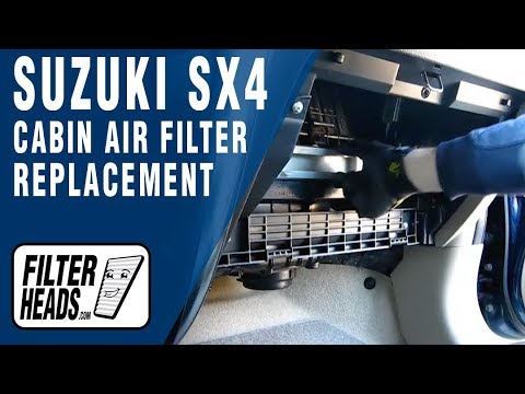 Cabin air filter replacement suzuki sx4 youtube for Interieur filter