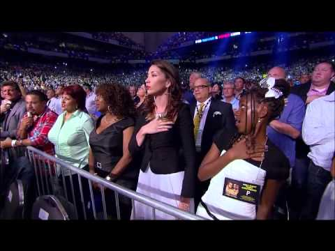 Paula Deanda National Anthem Canelo vs Trout
