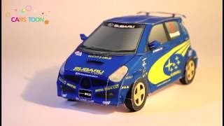 Cars for kids  Papercraft construction car toy Subaru R2