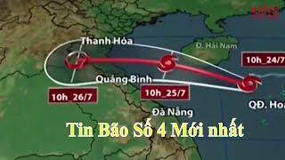 Tin bão khẩn cấp | Cơn bão số 4 | Bão số 4 nam 2017 |  hướng thẳng Thanh Hoá - Quảng Bình