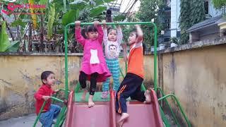 Bé Sumi chơi cầu trượt, đu quay cùng các bạn nhỏ   Bé khỏe bé ngoan   Nhạc thiếu nhi vui nhộn