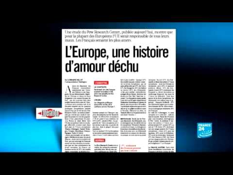 Paris, c'est tragique ! - French people's approval of the European Union is plummeting