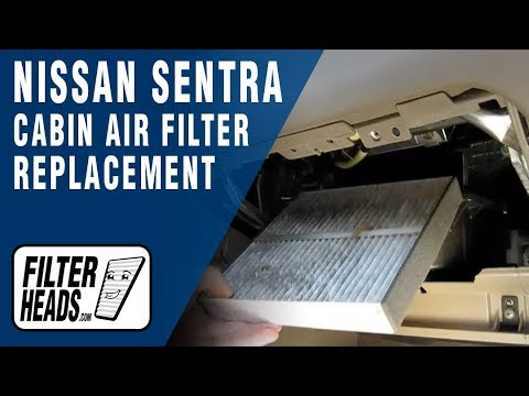 Cabin air filter replacement- Nissan Sentra