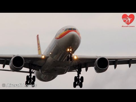 Hainan Airlines Airbus A330 [B-6520] Landing @ Germany, Berlin-Tegel 21.09.14