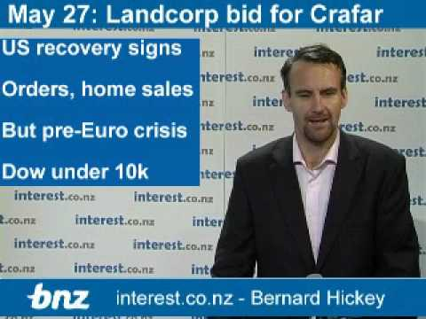 90 seconds at 9 am: Landcorp bid for Crafar Farms?; Euro bank rescue fund; Mining tax backdown?