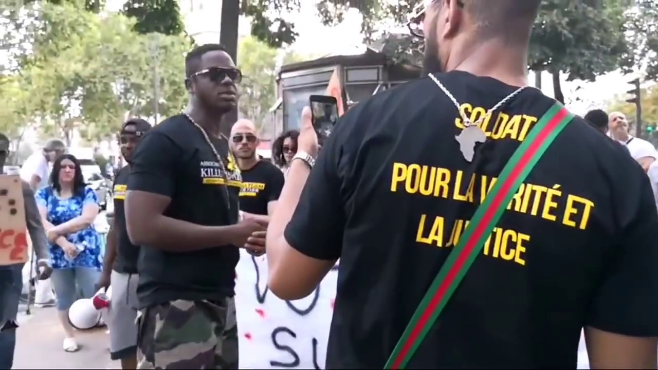 MANIFESTATION A L AMBASSADE DU CAMEROUN AVEC KILLUMINATEAM ET GRIN2KAF PROD LIVE !!!