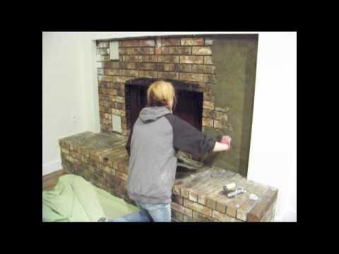chic on the cheap fireplace makeover youtube. Black Bedroom Furniture Sets. Home Design Ideas