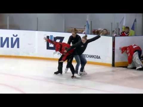 Выступление тренеров фигурного и хоккейного отделений ХК Донбасс