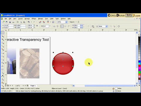 Using transparency in CorelDraw